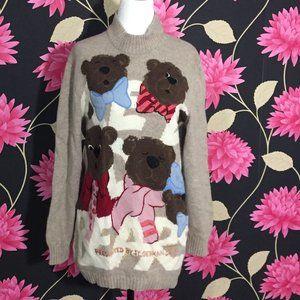 Designer Italian Bear Sweater - Rare & Vintage